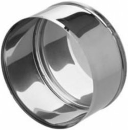 Заглушка нержавеющая Ferrum М 430/0.5 мм ф115 внешняя