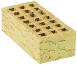 Кирпич лицевой керамический «Слоновая кость» «Грецкий орех» пустотелый утолщенный