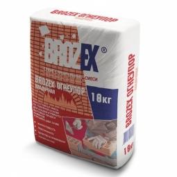 Смесь для кладки печей и каминов Brozex Огнеупор жаростойкая 18 кг