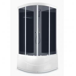 Душевая кабина Domani Spa Delight 88 high 800x800x2180 тонированное стекло, черная панель Б/Э