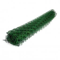 Сетка рабица ПВХ d=2,6 мм, ячейка 50x50 мм, 1,5x10,0 м зеленая