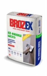 Шпатлевка Brozex КР Финиш WR-600 полимерная белая 20 кг