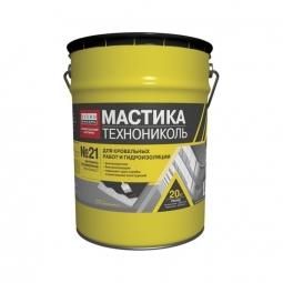 Мастика Технониколь Техномаст БПХ кровельная битумно-полимерная №21 20кг