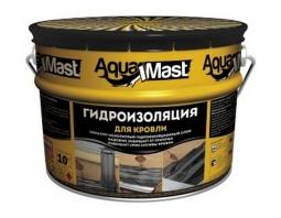 Мастика Технониколь AquaMast битумно-резиновая гидроизоляционная для кровли 10кг