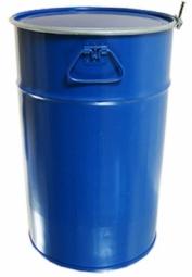 Бочка Тара стальная с крышкой на обруч 50 литров
