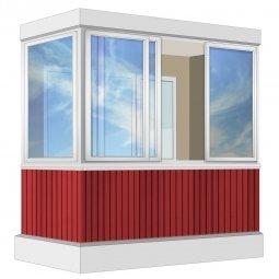 Остекление балкона Алюминиевое Provedal 2.4 м Г-образное