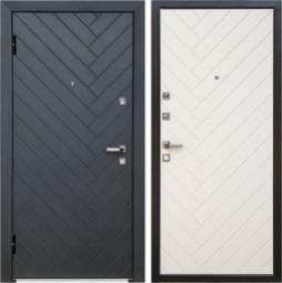 Металлическая дверь Хай-тек, Йошкар-Ола, 860*2050, софт милк белый