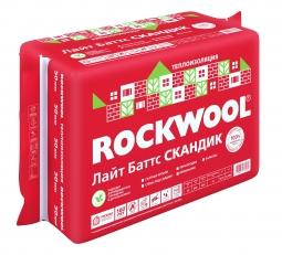 Базальтовый утеплитель Rockwool Лайт Баттс Скандик 800х600х50 мм / 12 шт.
