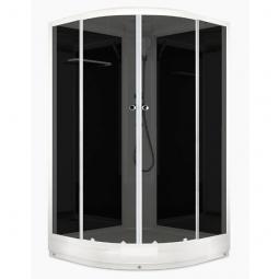 Душевая кабина Domani Spa Delight 110 1000х1000х2180 тонированное стекло, черная панель Б/Э
